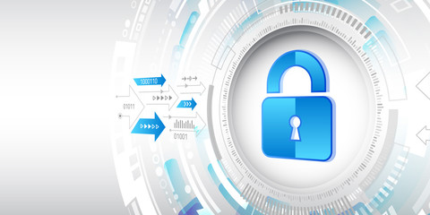 Personal data protection concept. Internet security online system.  Isometric vector illustration.