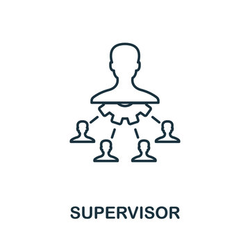 Supervisor line icon. Thin style element from business administration collection. Simple Supervisor icon for web design, apps and software