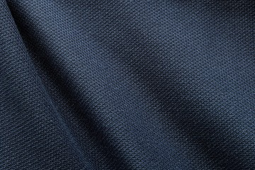 In de dag Stof Close up shot of midnight dark blue formal suit cloth textile surface. wool fabric texture for important luxury evening or night event. Wallpaper and background with copy space for text