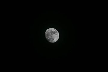 A full moon picture taken during a beauiful night in el Salvador in Central America
