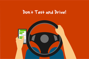 """Drive and Text"" Landscape Vector Illustration"