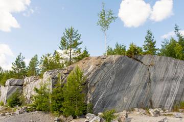 Italian quarry in Ruskeala mountain