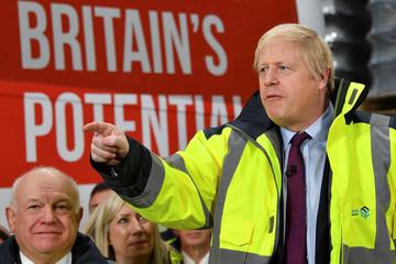 Britain's Prime Minister Boris Johnson campaigns in Washington