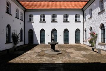 Monastery backyard, Monastery Saarn, Muelheim, Germany