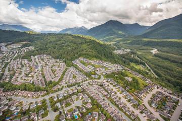 Aerial view of Promontory, Chilliwack, British Columbia