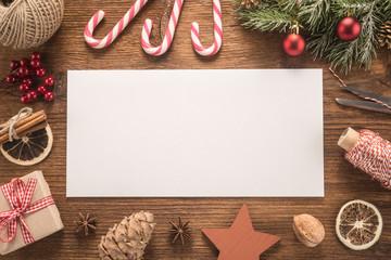 White envelope on christmas holiday background