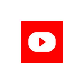 Youtube - popular realistic social media logotype. Editorial illustration. Vinnitsa, Ukraine - December 9, 2019