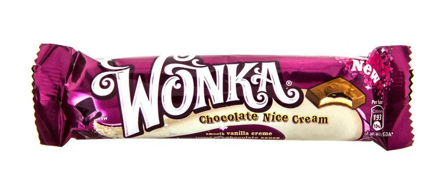 Wonka Chocolate Nice cream on a white background