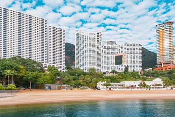 Empty beach by Repulse Bay. Hong Kong.
