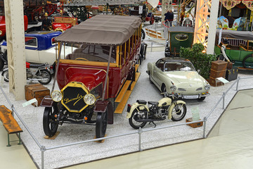 Technik Museum Speyer - The exhibition hall in the listed Liller Halle, the industrial hall of 1913. Museum pulls more than half a million visitors per year, Germany