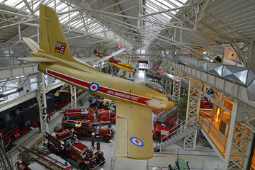Technik Museum Speyer - airplane of Canadian aerobatic team Golden Hawks. Museum pulls more than half a million visitors per year, Germany