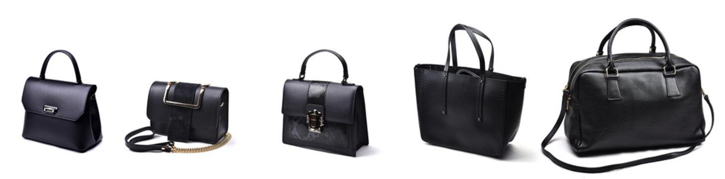 Set of fashion woman bags