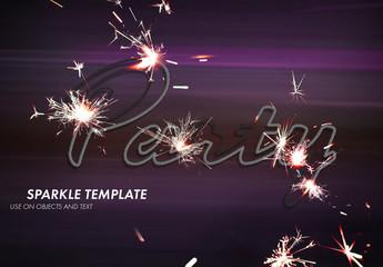 Firework Sparks Text Effect Mockup