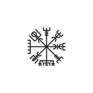 Viking talisman symbol vector illustration
