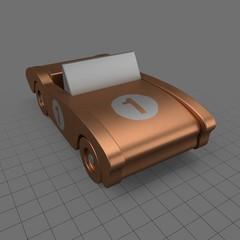 Metal toy sports car