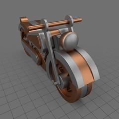 Metal toy motorcycle