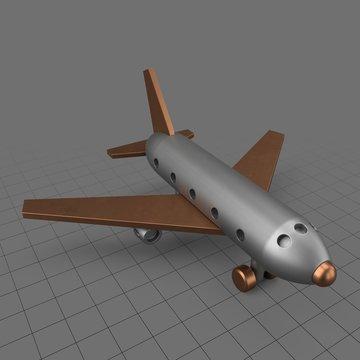 Metal toy passenger plane