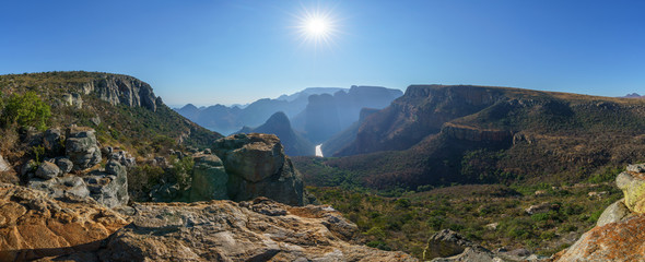hiking the leopard trail, blyde river canyon, mpumalanga, south africa Wall mural