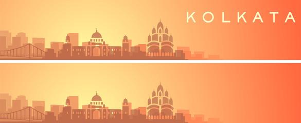 Kolkata Beautiful Skyline Scenery Banner Papier Peint