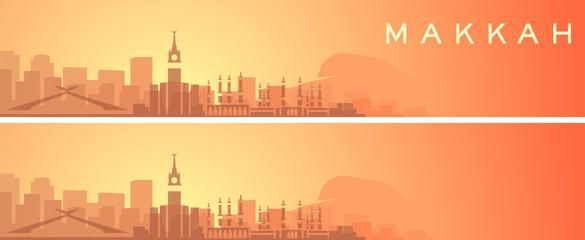 Mecca Beautiful Skyline Scenery Banner