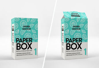 2 Rectangular Boxes Mockup