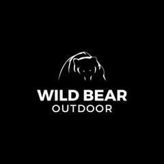 Wild bear outdoor logo inspirations, outdoor logo template, mountain logo