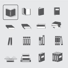Book vector icon set