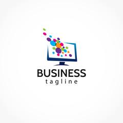 creative media screen logo