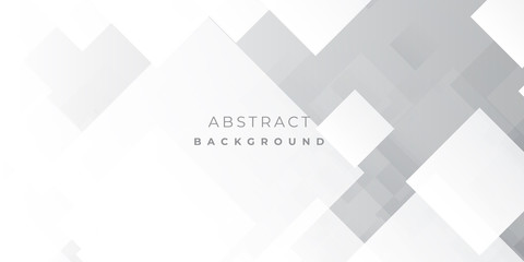 White Grey Silver Box Rectangle Abstract Background Vector Presentation Design Wall mural