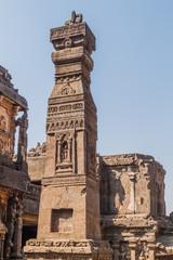 Pillar at Kailasa Temple in Ellora, Maharasthra state, India
