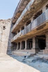Das Avatara (Ten Incarnations of Vishnu) Cave in Ellora, Maharasthra state, India