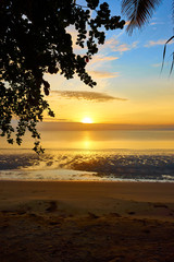 East coast of Palawan (Philippines) at sunset. Peaceful area with almost no tourism, next to Roxas.
