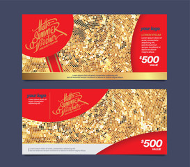 Gift voucher design template.