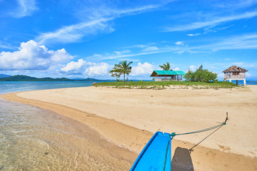 Tiny exotic Island with mini resort in the east part of Palawan - Philippines. Coab Island