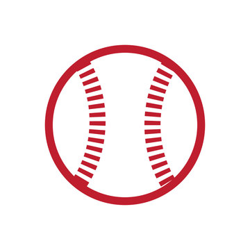this is a simple image of a classic softball or baseball ball that looks nice in red color