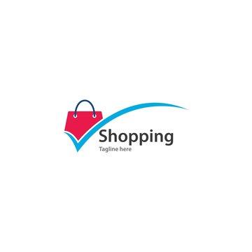 Shopping bag logo vector