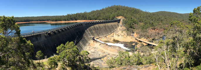 Panoramic landscape view of Wellington Dam in Western Australia