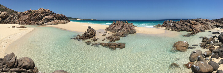 Panoramic view of Injidup Beach in South Western Australia