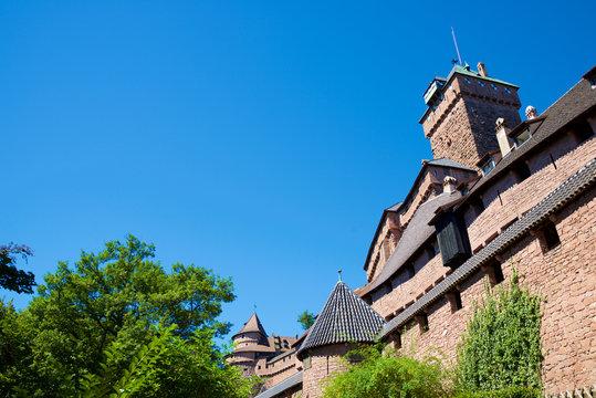 Haut-Koenigsbourg Castle view