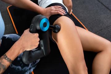 Upper thigh and buttocks massage