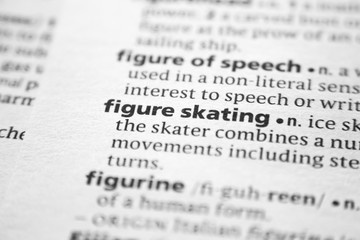 Word or phrase Figure skating in a dictionary.