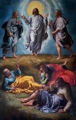 Dipinto di Girolamo Siciolante, Trasfigurazione, conservato presso la Basilica di Santa Maria in Aracoeli, Roma