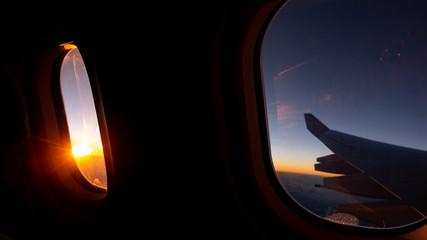 Jet windows from inside the passenger seat