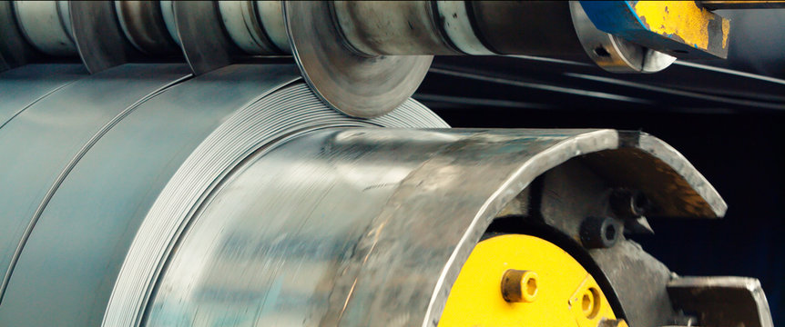 Machine for slitting/cutting/stripping steel sheets
