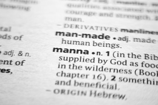 Word or phrase Manna in a dictionary.
