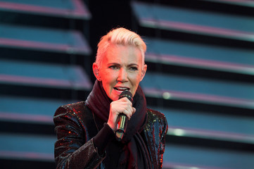 Marie Fredriksson of pop band Roxette sings during a concert at Fredriksskans in Kalmar