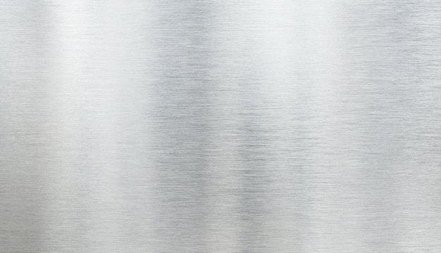 Real metal aluminum light brushed texture