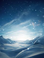 Obraz Winter Mystical Snow Scenic Background - fototapety do salonu