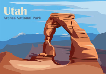 Delicate Arch in Arches National Park Fotomurales