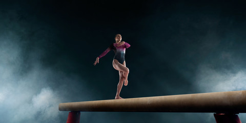 Female gymnast.